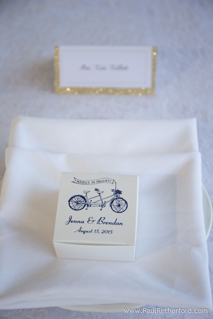 wedding fudge favor photo by Paul Retherford at the Inn at Stonecliffe on Mackinac Island