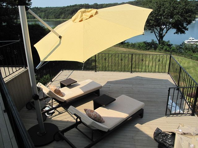 Cantilever Umbrella Sunbrella. Contemporary Outdoor ...