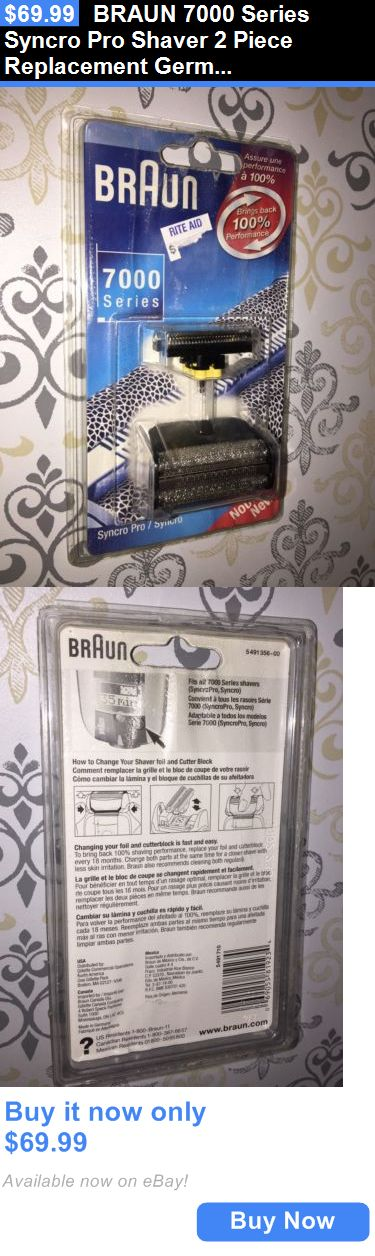 Shaver Parts and Accessories: Braun 7000 Series Syncro Pro Shaver 2 Piece Replacement Germany Original New BUY IT NOW ONLY: $69.99