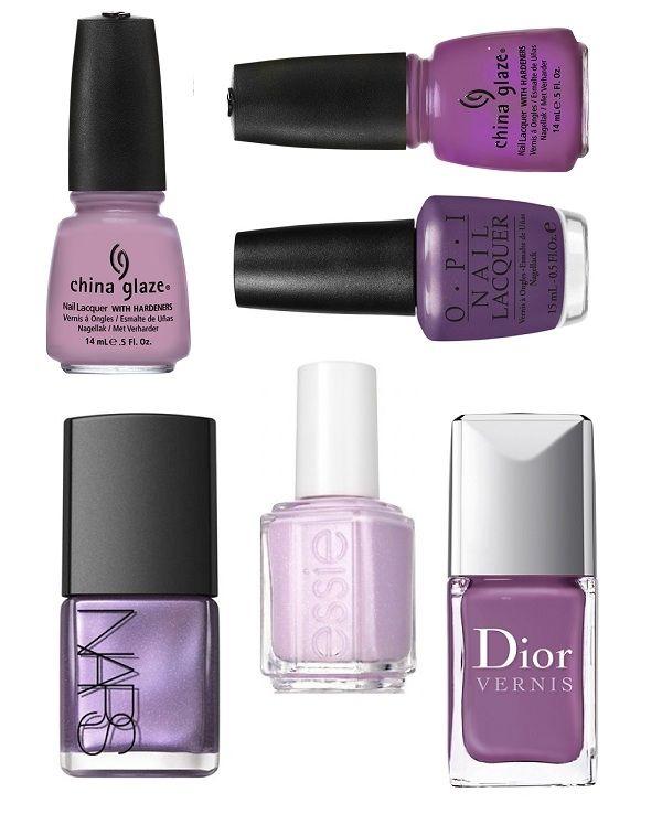 Flesjes paarse nagellak