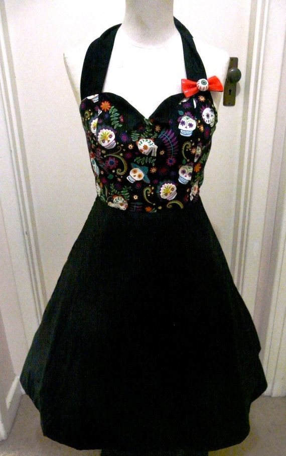 Day of the Dead Dress Sugar Skull Pin Up by BettieDreadful on Etsy