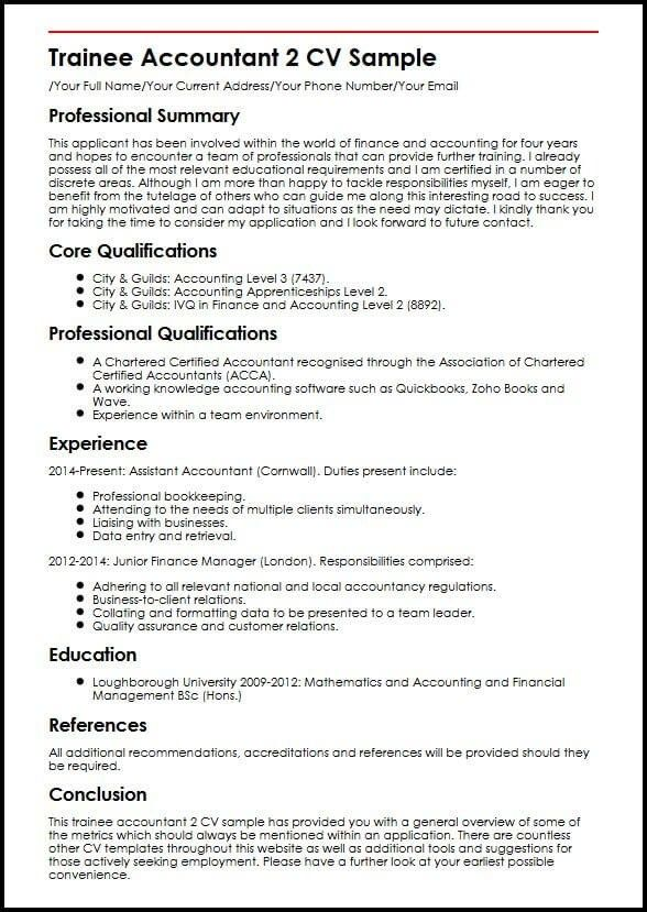 Cool Chartered Accountant Cv Template Picture With Images