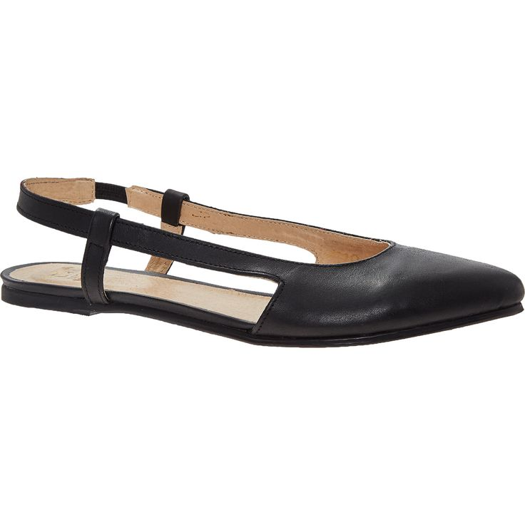 quot lucca quot black leather slingback shoes tk maxx