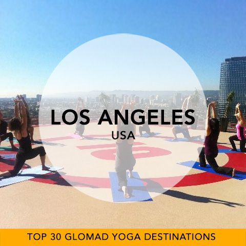 Glomad's 'Top 30 Global Yoga Destinations' No.24 – Los Angeles, USA  Only 6 destinations left to go? We can see the Top 60 already in the making. So... Yoga in LA... it's what pubs are to every street corner in London. Yoga is convenience-store-like, it's everywhere. Think celebrity, strong views on 'the best' style of Yoga and everything Lulu Lemon'd. Dance with Shiva Rae to the sunset on Venice Beach or Salute the sun on a helipad workshop retreat. #USA #LA #yogatravel #glomad
