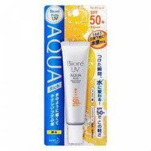 NEW!! BIORE UV Aqua Rich Watery Mousse Water Base SPF50 PA+++ by biore. $23.90. NEW!! BIORE UV Aqua Rich Watery Mousse Water Base SPF50 PA+++. BIORE UV Aqua Rich Watery Mousse SPF50/PA+++  (30ml)  made in Japan   **Allergy tested**  Ingredient : Water, Cyclopentasiloxane,Octyl Methoxycinnamate, Alcohol, Titanium Dioxide, Polyglyceryl-3 Polydimethylsiloxyethyl Dimethicone, Dimethicone, Agar, Behenyl Alcohol, Microcrystalline Wax, Phenoxyethanol, Polyvinyl Alcohol...