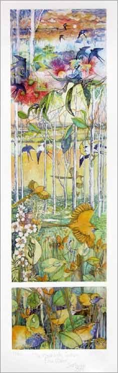 "Janet Ayliffe ""Southern Emu Wrens"", multi-plate etching"