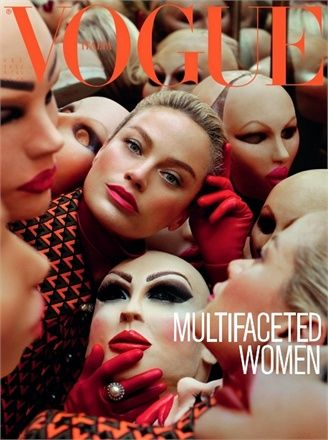 doll house; what does it matter if your plastic, you're still fantastic :) @Vogue Italia magazine cover
