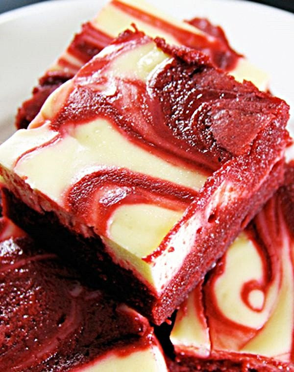 Red Velvet Cream Cheese Brownies. So bad for you but look so gooood!