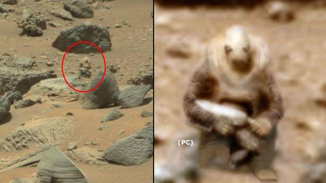 Unaestatua que representaría a un soldado extraterrestre ha sido encontrada sobre la superficie de Marte.
