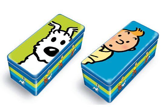 Boîtes à biscuit Delacre Tintin