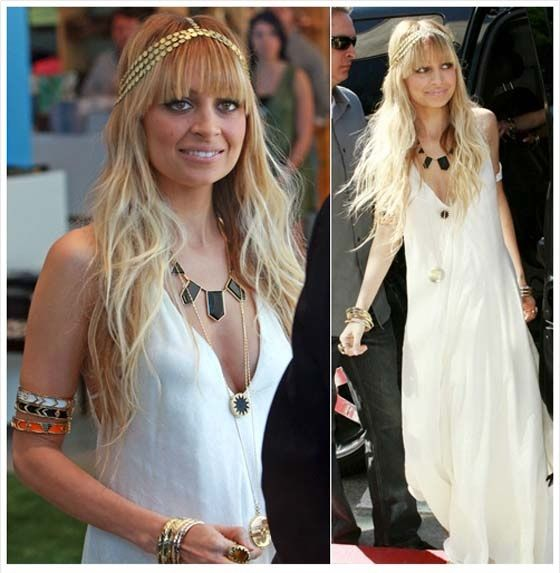 "Nicole Richie ""bohemian"" inspiration #queen_of_boho #headpiece #white #accessories #beauty"