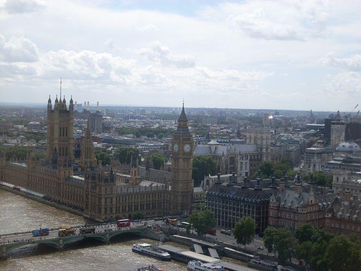 Panorama Londynu z London Eye