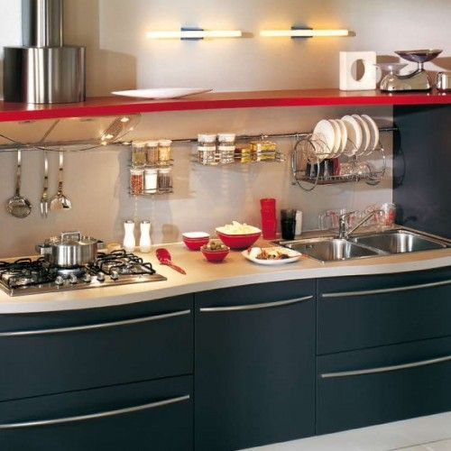 Kitchen Rail Storage Ideas