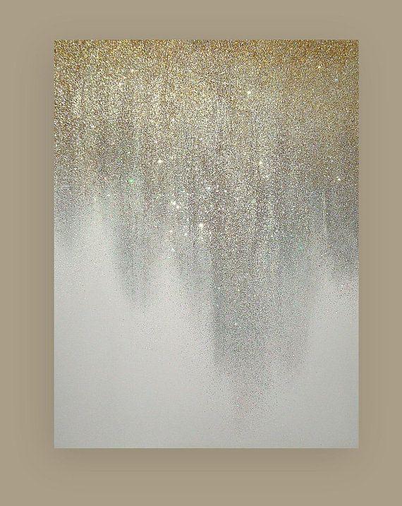 Original Ora Birenbaum Painting Art Metallic Abstract Art