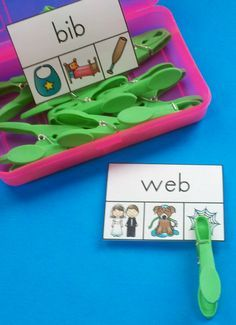 FREE!!! CVC Clip Card Resource for Your Little Learners! #FREE #FREEBIE…