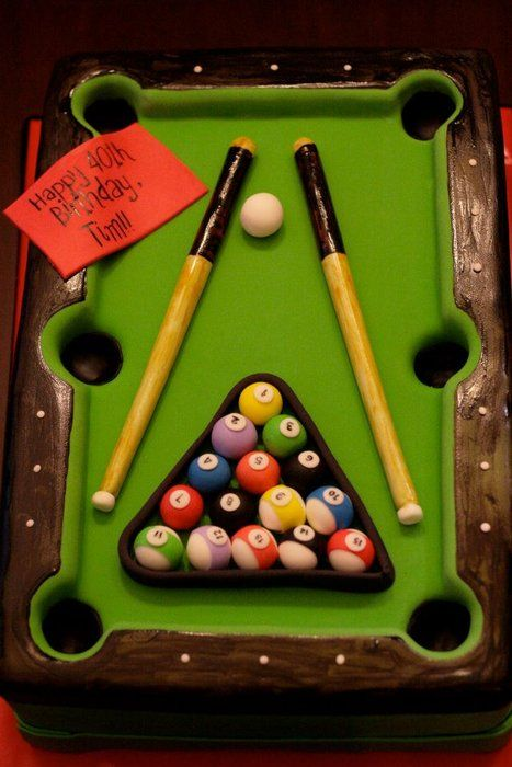 .pool table cake --FINALLY