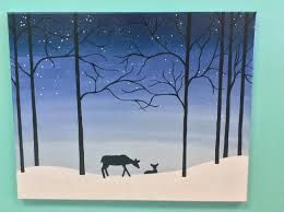 winter canvas paintings for kids - Google Search