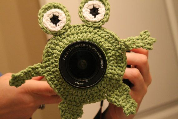 Crotchet a camera buddy with bulging eyes that will keep your kids laughing during photo shoots. | 23 Silly DIY Projects That Will Make You Laugh Out Loud