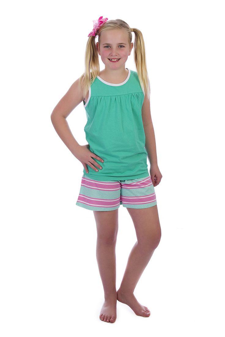 Hasaknapp Matilda Girls Summer Pyjamas Pyjamarama