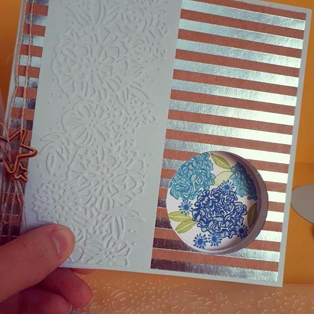 Une carte à message caché (peek a boo card) pour souhaiter un joyeux anniversaire #stampinup #scrapbooking