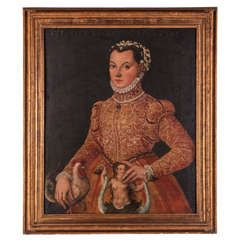 Oil on Canvas Depicting a Lady