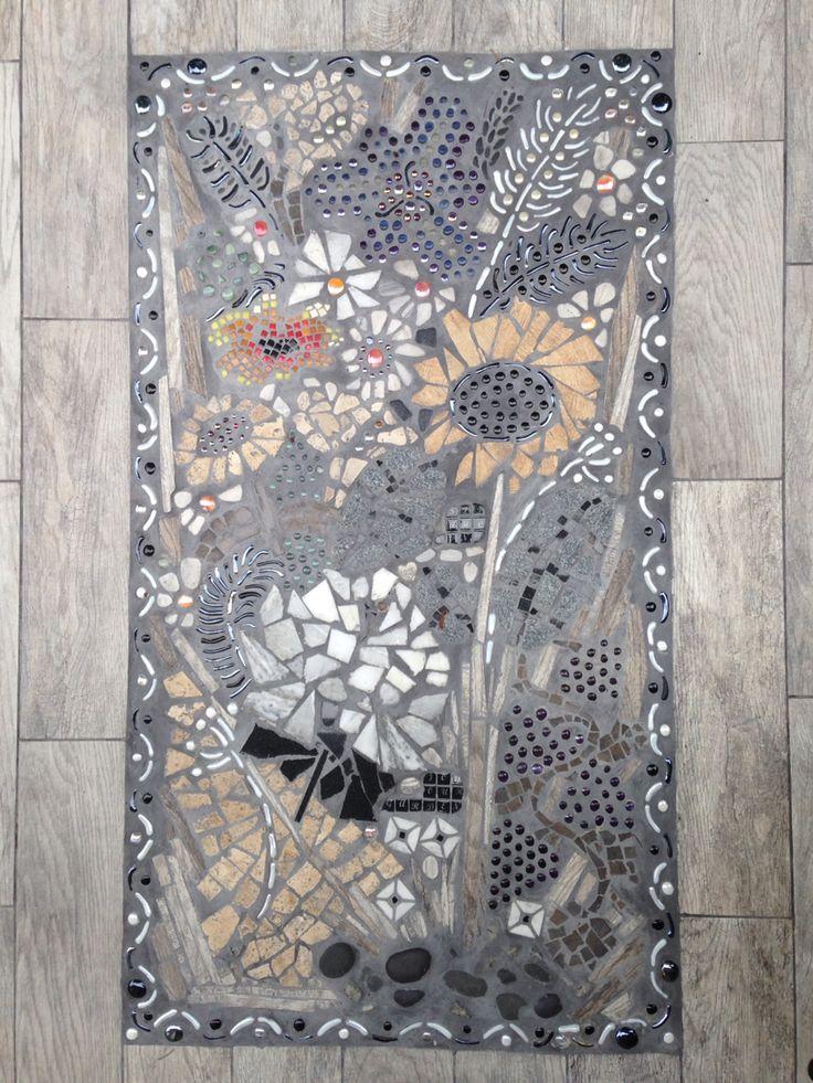 Patio floor mosaic