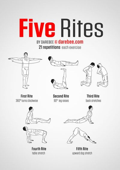 Five Tibetan Rites...something to work on!