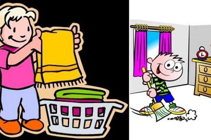Les tâches d'enfants par groupe d'âge.