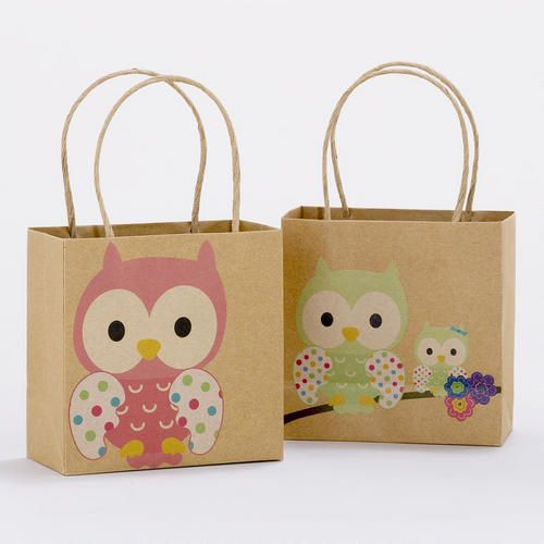 One of my favorite discoveries at WorldMarket.com: Owls Mini Kraft Gift Bags, Set of 2