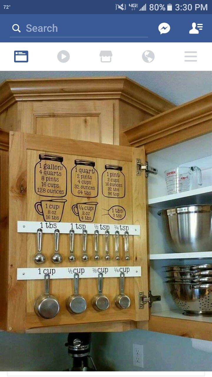 Best 25 measuring cup storage ideas on pinterest for Best way to buy kitchen cabinets