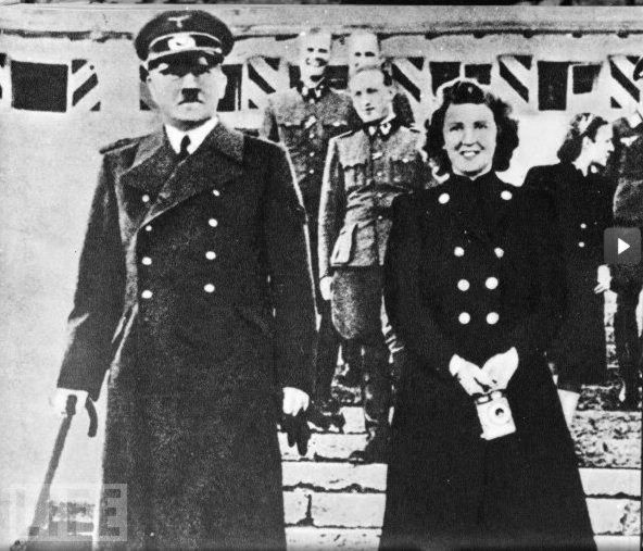 Adolf Hitler and Eva Braun on their wedding day, which became the day of their death.
