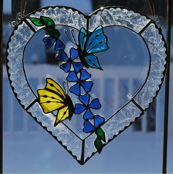 339 best stained glass butterflies dragonflies images on for Butterfly stained glass craft