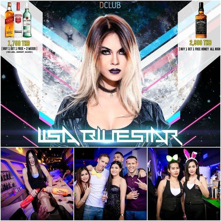 Here we go Lisa Bluestar at Dclub tonight! Serious energy !  BUY 1 GET 1 FREE Jack Daniel's 2900 THB  BUY 1 GET 1 FREE Red label Smirnoff Bacardi 1750 THB  2 free mixer  #dclubpattaya #dclub #walkingstreet #pattaya