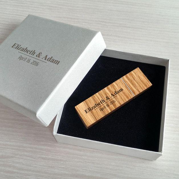 USB-Sticks - USB stick hochzeit mit gravur | Holz 16GB USB 3.0 - ein Designerstück von ZaNa-Design bei DaWanda