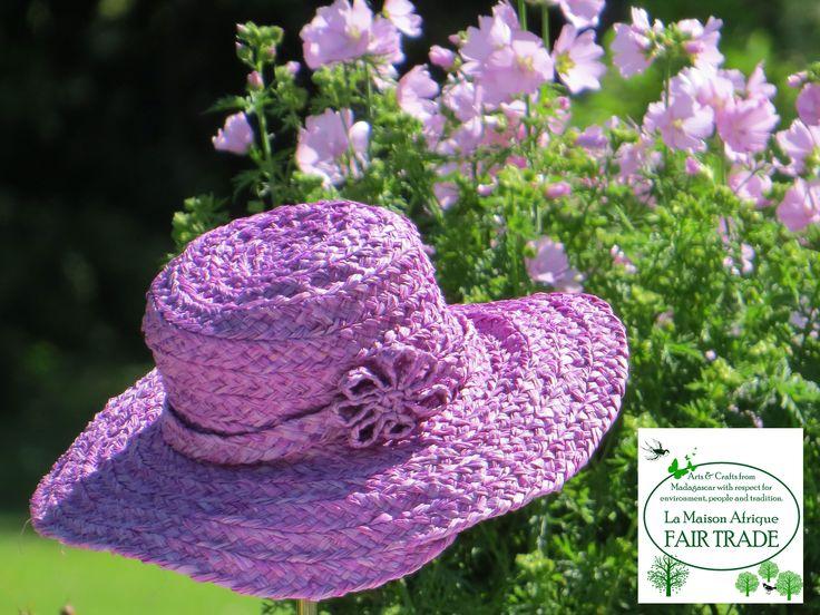 Garden season. FairTrade hat matching a wonderful day.