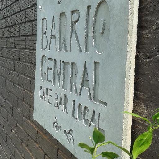 Signage above the main entrance #BarrioCentralCafeBar #pub #SanJoaquin #Laureles #BebeLocal #BarLocal #Medellin