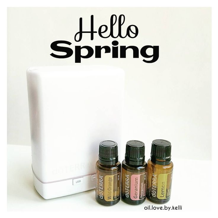 Happy First Day of SpringHere's a spring diffuser blend that is guaranteed to brighten your day! Geranium, Wild Orange and Lemon Essential Oils. 2 drops of each. I currently have this going in my diffuser.  Geranium Essential Oil is a new oil for me. It is used to promote the appearance of clear skin and hair. Steam facial anyone? It helps calm nerves and lessen feelings of stress. Also known to repel insects.