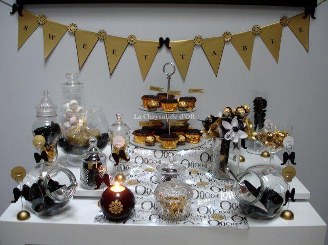 noir blanc et doré - Mariage en noir, blanc et doré (31)  mariage ...