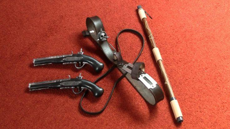 Edward costume (AC4:BF) » chest belts, flintlocks & blowpipe