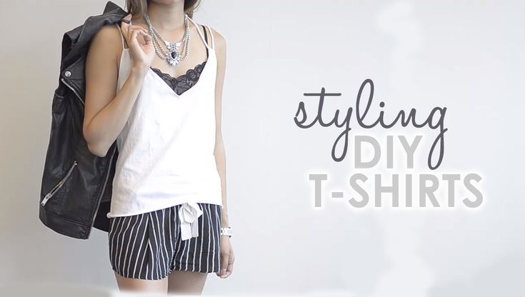 Style these cute #DIY t-shirts and go from having a plain shirt to a put together outfit.