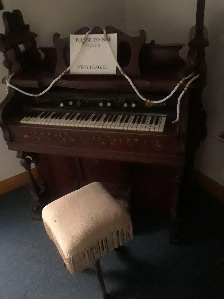 Antique organ on display at First Christian Church, Eureka Springs, AR, USA