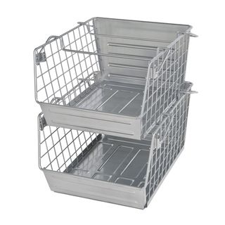 @Overstock - Organize your pantry or kitchen with this two-piece Seville Classics stackable bin set. This basket set features a durable metal and wire grid construction made for storing miscellaneous items around the house.http://www.overstock.com/Home-Garden/Seville-Classics-2-piece-Metal-Bin-Set/7785539/product.html?CID=214117 $24.99