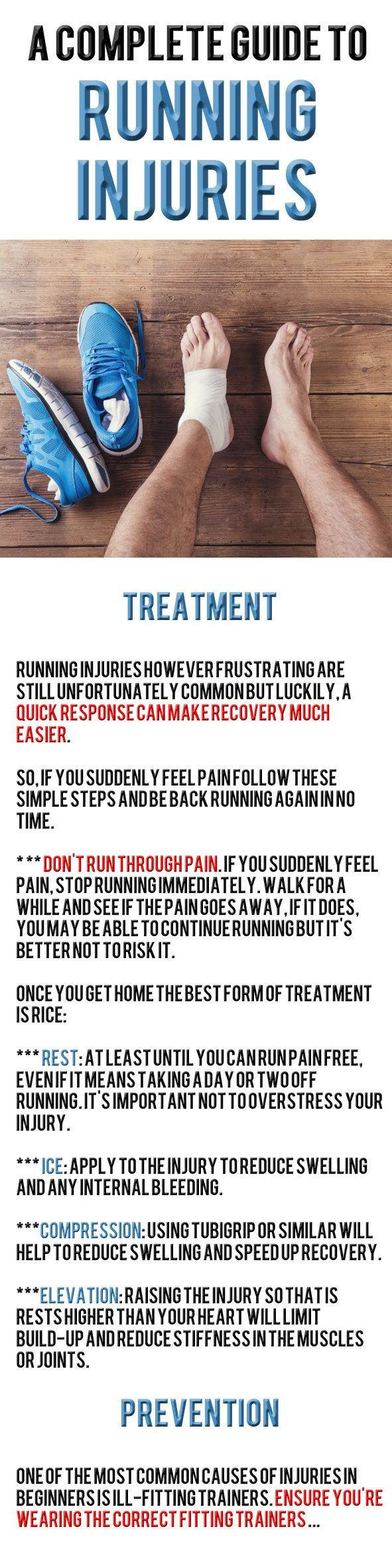Good running technique is crucial for good performance, speed, and the most importantly, the easiest way to prevent injury.      Sadly, even the best of us can be struck down by a dreaded injury, so if you find yourself in pain check out our guides for how best to prevent, treat, and recover from the most common running injuries.... #runningadvice #runnig #runninginjury
