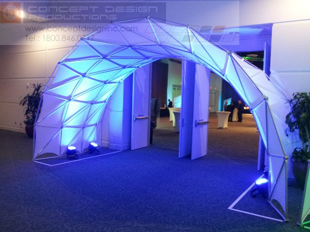 The Space Arch is an innovative design that brings a new level to 3D experience!  Visit our website for more information - www.conceptdesigninc.com #design #events #corporate #staging #liveevents #liveshow #production  #eventplanning #event #creative #custom  #branding #logo #brand #modular