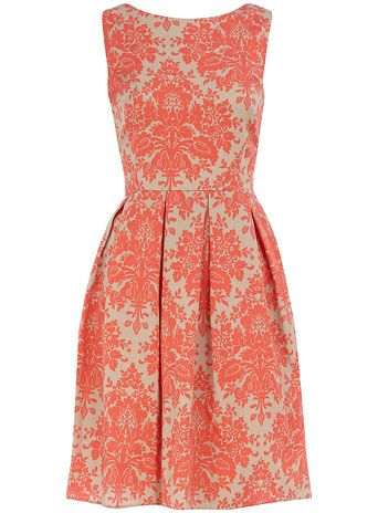 SPRING SUMMER 12: Coral Dress, Fashion, Style, Color, Bridesmaid Dresses, Dorothy Perkins, Damasks Dresses, Prom Dresses, Coral Damasks