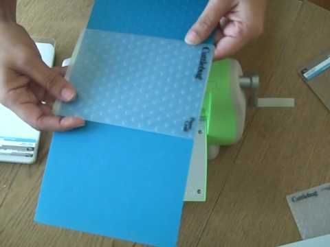 """How to emboss paper that is larger than your embossing folder (using rubber pad to prevent folder """"edge"""" lines)."""