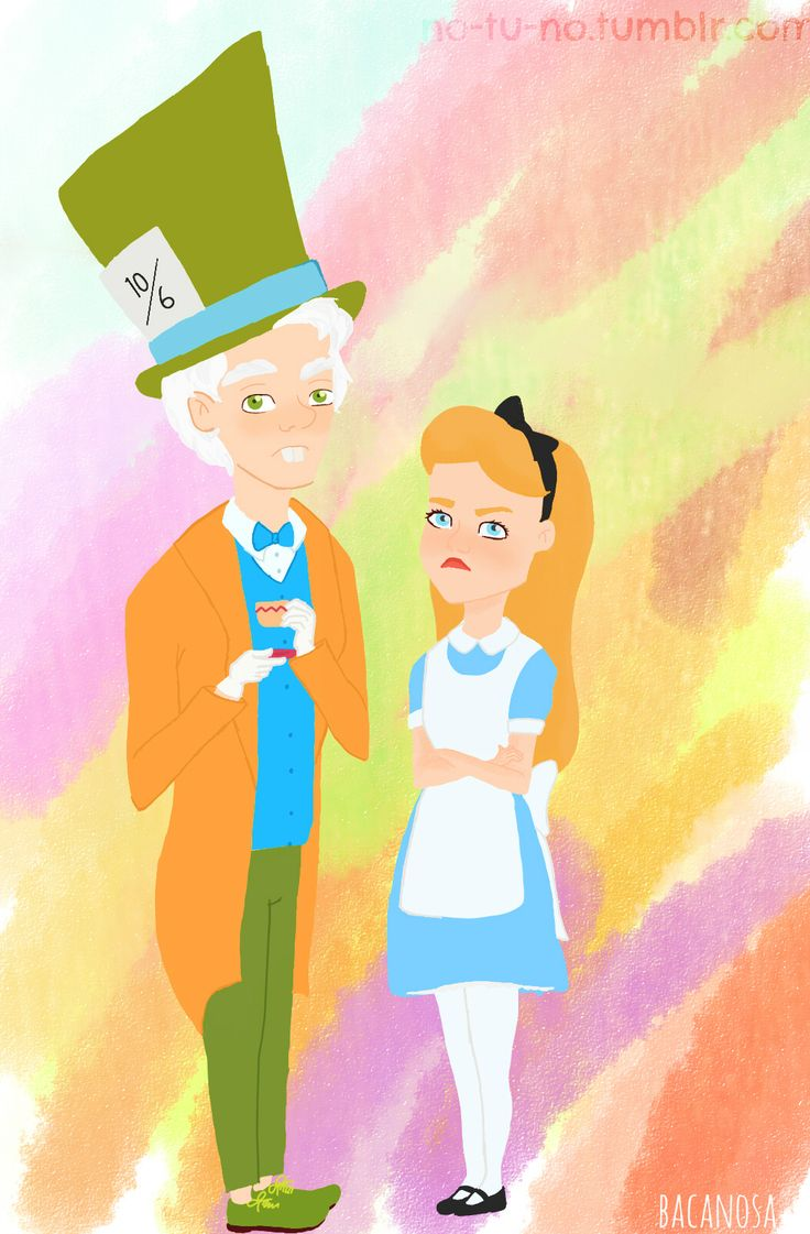 Mad Hatter and Alice inspired by Disneyland's videos