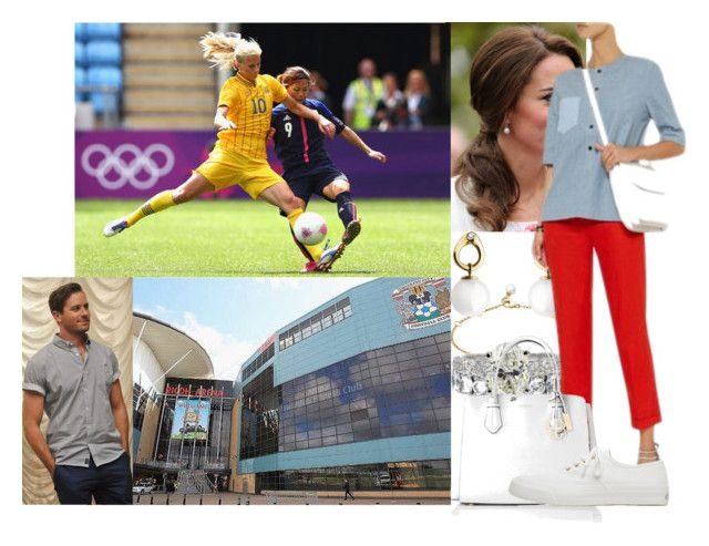 """""""Watching the Sweden v Japan Women's Football Match of the London 2012 Olympics at City of Coventry Stadium with Paul"""" by swedish-princess ❤ liked on Polyvore featuring Georg Jensen, dVb Victoria Beckham, L.K.Bennett and Maison Kitsuné"""