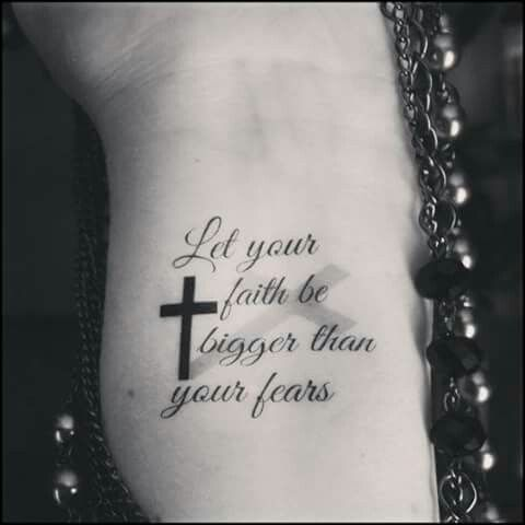 Let u faith be bigger then your fears