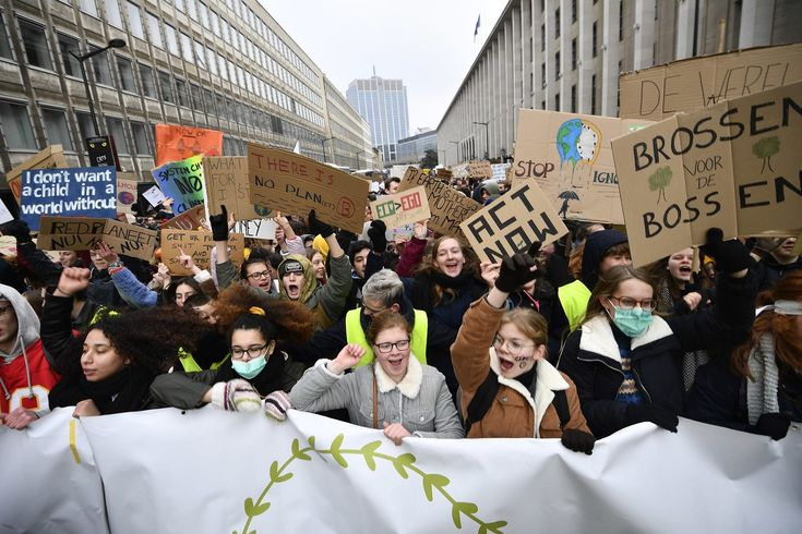Europe Climate Change Protests Teenage Girls Organize Mass School Walkouts And Protests Climate Change Climates Teenager